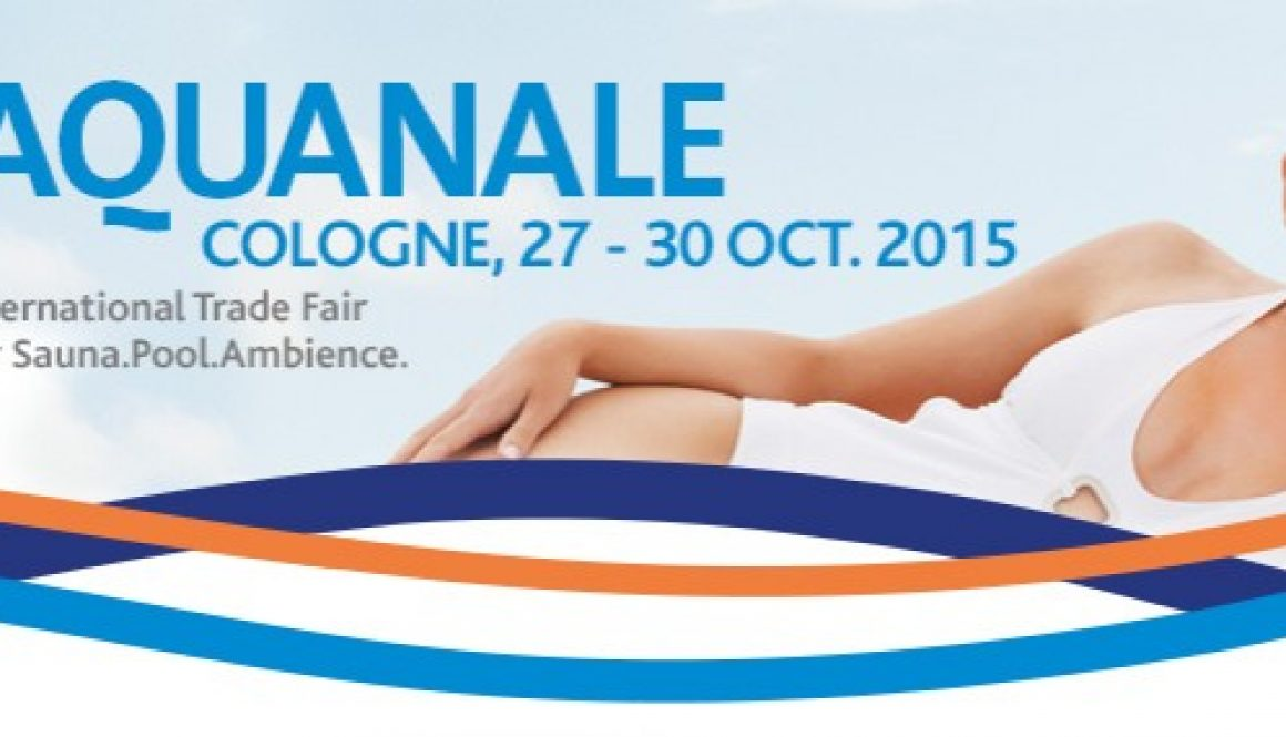 We are ready to show our products at aquanale sais for Pool trade show 2015